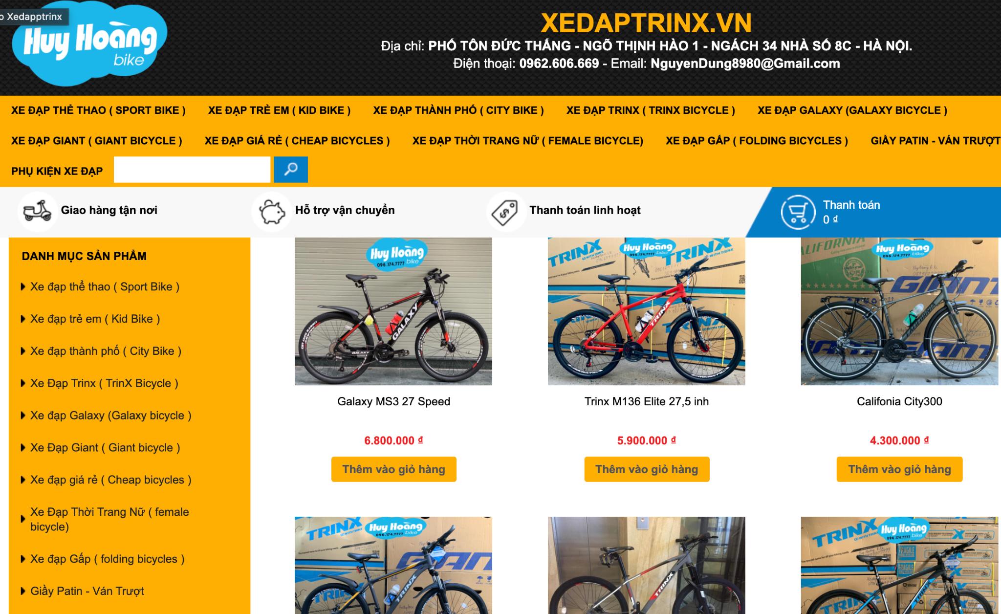 xe đạp không phanh giá rẻ ở đâu