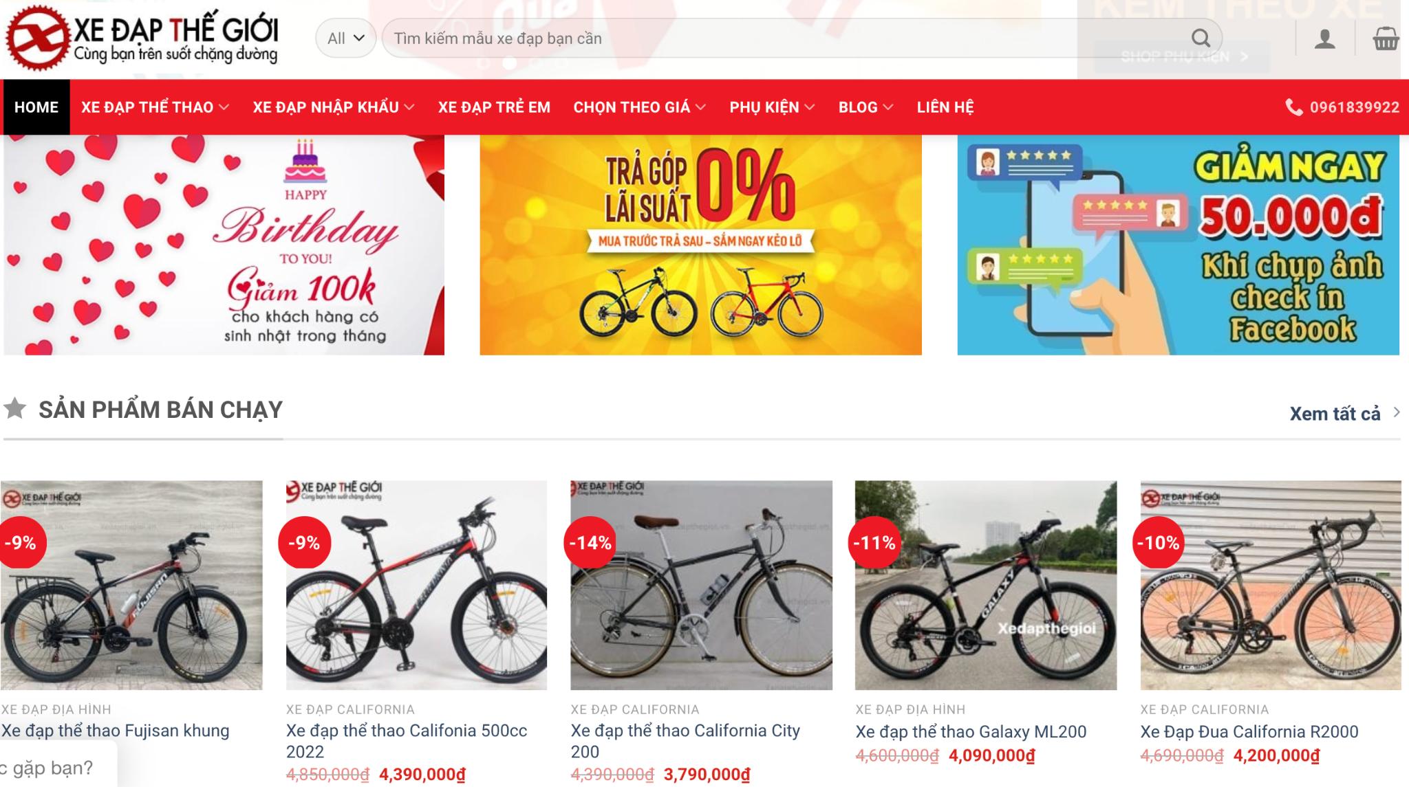 xe đạp không phanh giá rẻ